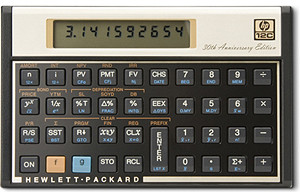 HP 12c Financial Calculator, 30th Anniversary Edition