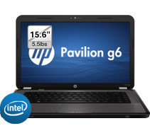 HP g6s series 15.6 inch 4GB LED Notebook Computer with 2Nd Gen 2.5Ghz Intel Core i5-2450M Processor, 500GB HDD, Webcam